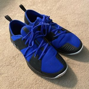 Under Armour size 13 royal and black